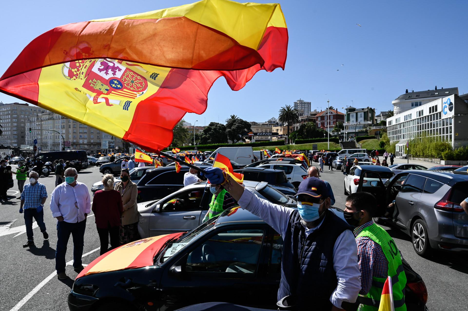 Fracaso de la caravana ultraderechista en Galicia